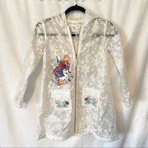 Disney Frozen Elsa & Anna Snowflake Rain Coat 7/8
